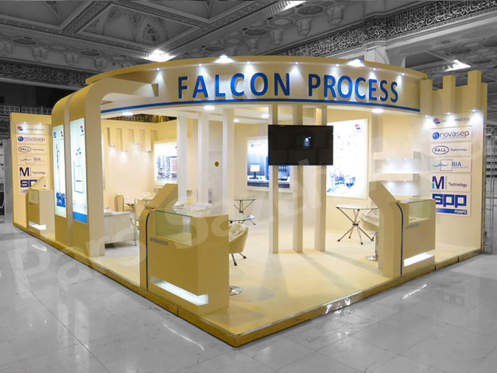 Falcon process Exhibition booth | Exhibition booth maker | Tehran Exhibition booths maker | Booths designer | Booth layouter