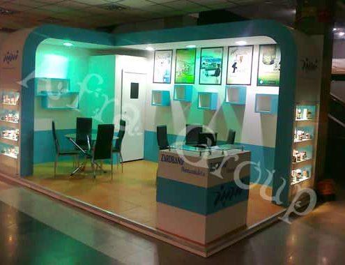 غرفه سازی نمایشگاهی دارويي زردبند