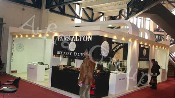 غرفه سازی نمایشگاهی شرکت پارس آلتون