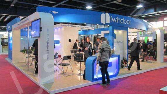 غرفه نمایشگاهی شرکت بهین سامان iwindoor
