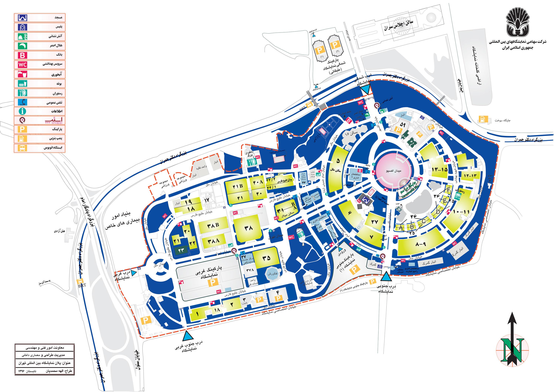 نقشه نمایشگاه بین المللی تهران | غرفه سازی پارس سازه