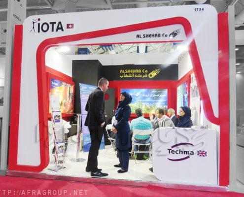 غرفه سازی پارس سازه | غرفه سازی نمایشگاهی | غرفه سازی نمایشگاهی شرکت IOTA