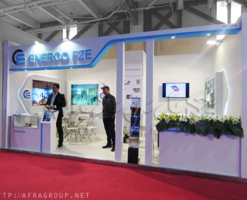 غرفه سازی پارس سازه   غرفه سازی نمایشگاهی   غرفه نمایشگاهی شرکت Enerco