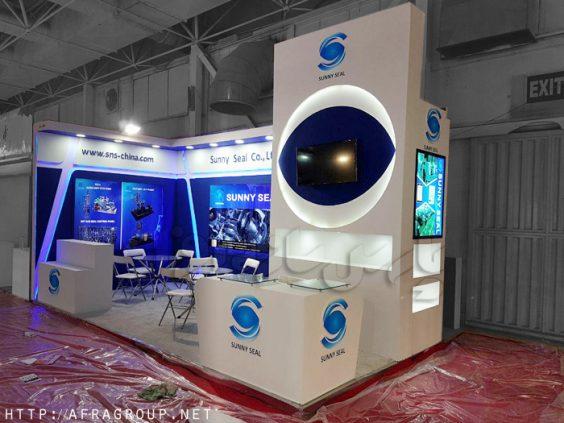 غرفه نمایشگاهی شرکت sunny seal   غرفه سازی پارس سازه افرا