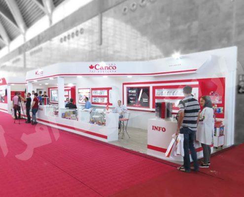 غرفه سازی نمایشگاهی شرکت کنکو