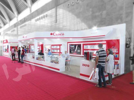 طراحی و ساخت غرفه نمایشگاهی شرکت کنکو   غرفه سازی پارس سازه افرا
