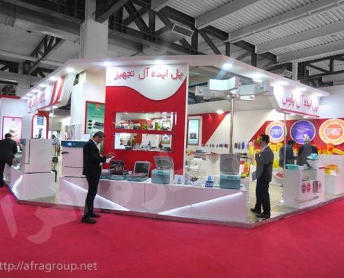 غرفه نمایشگاهی پل ایده آل تجهیز - غرفه سازی پارس افرا سازه