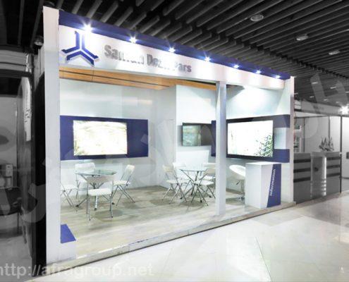 غرفه سازی نمایشگاهی شرکت سامان دژ