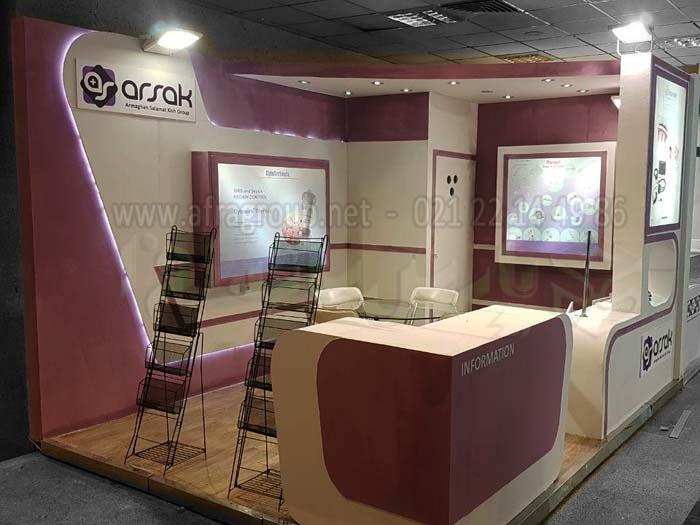 غرفه سازی نمایشگاهی - ارمغان سلامت - سالن رازی
