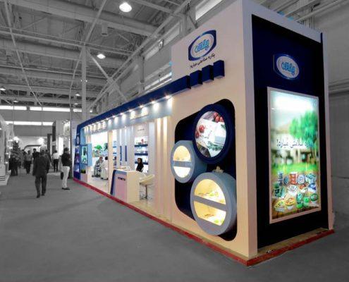 غرفه سازی نمایشگاه مواد غذایی تهران-طراحی غرفه و ساخت غرفه - غرفه سازی نمایشگاهی پلاره