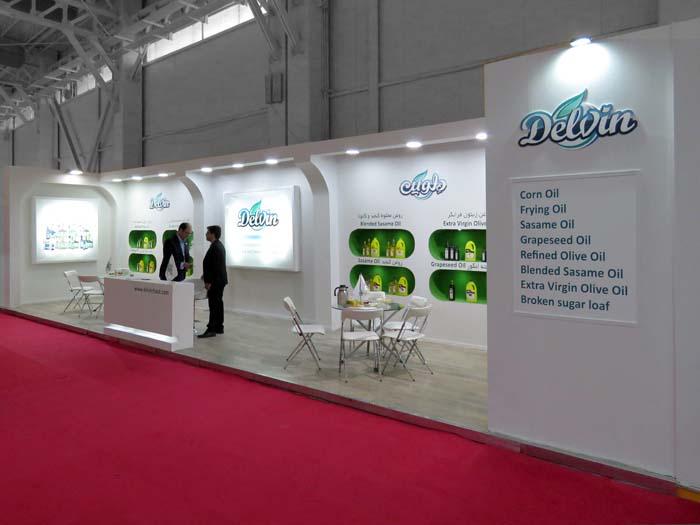 98-12-غرفه سازی نمایشگاه مواد غذایی تهران-طراحی غرفه و ساخت غرفه - غرفه سازی نمایشگاهی دلوین