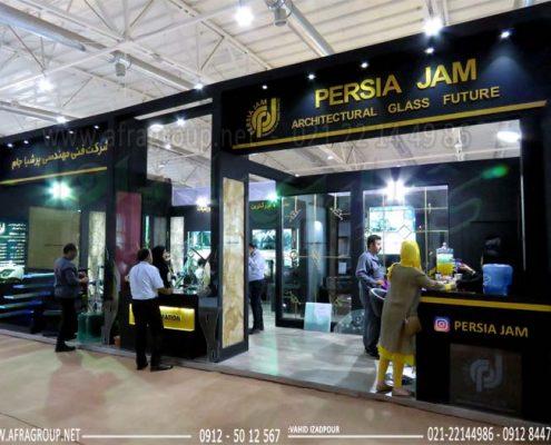 غرفه سازی نمایشگاهی شرکت پرشیا جام - نمایشگاه ساختمان 1398